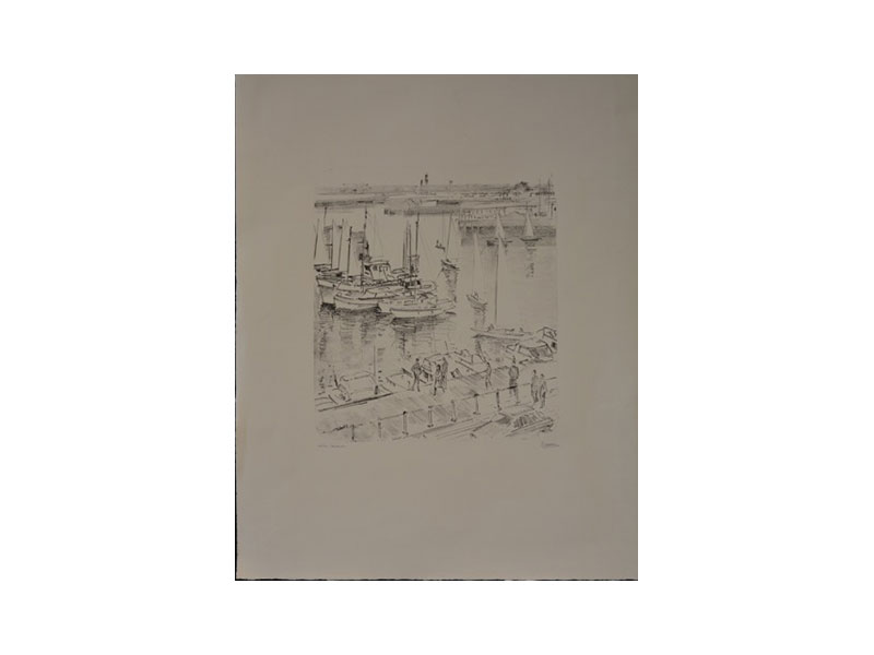 Lithografie (12/40), Oostende - Jacques Leduc